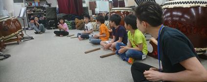和太鼓教室の様子